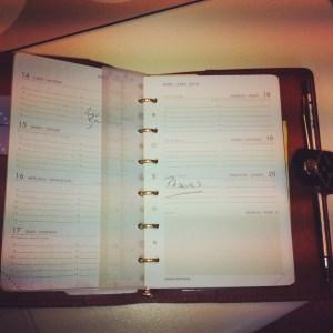 mon agenda...