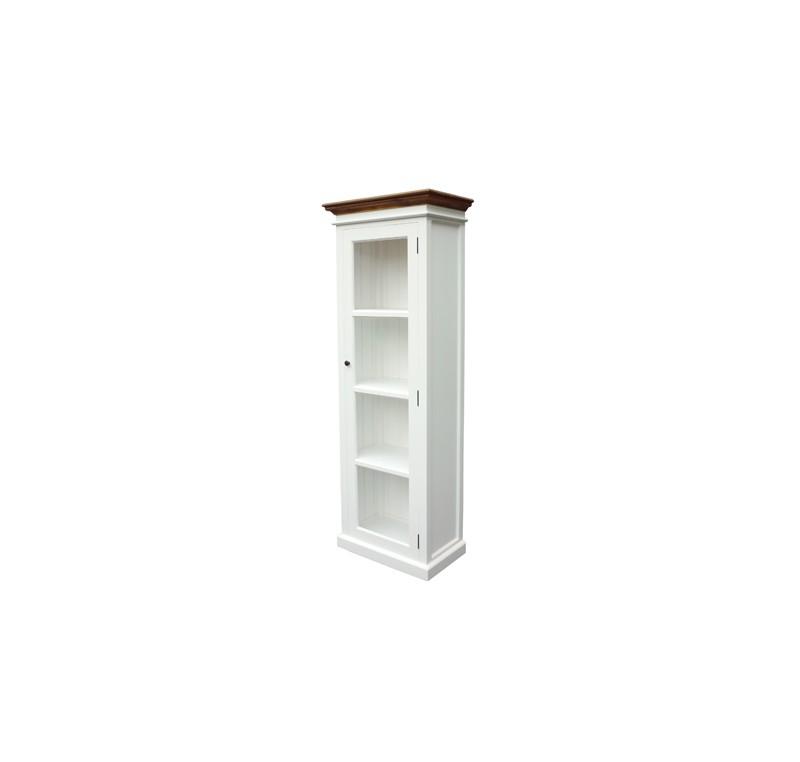vitrine bibliotheque bois blanc dessus teck collection leirfjord