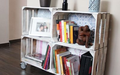 D.I.Y boîtes en bois recyclées en étagère vintage, étape par étape