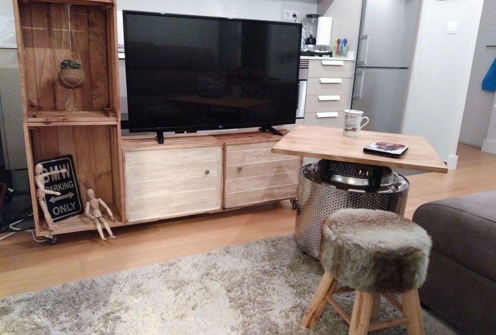 d i y meuble tv avec des boites de