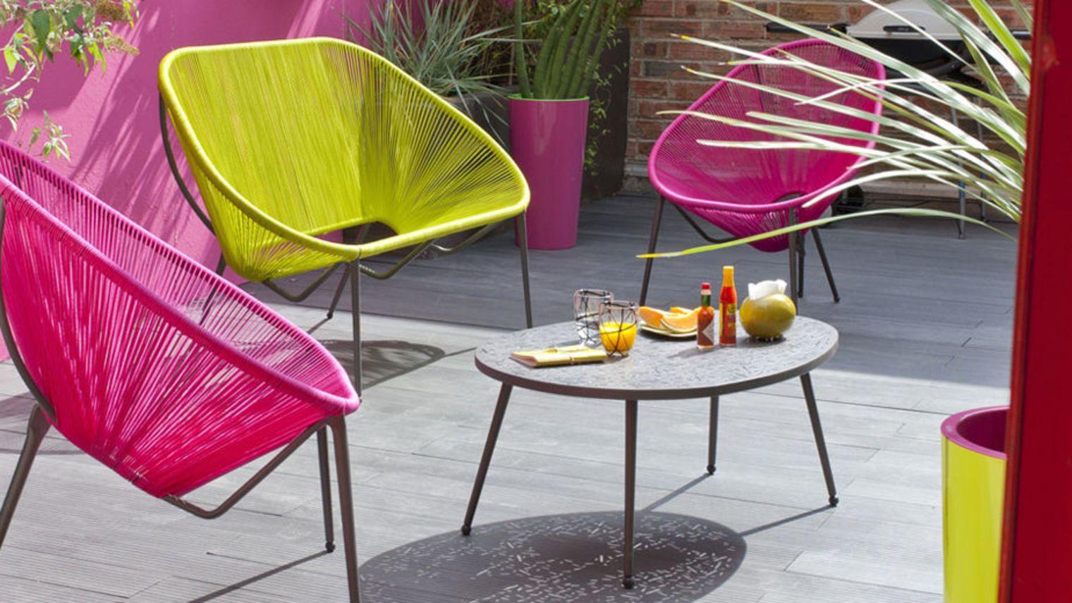 Un Salon De Jardin Color Pour Rajouter Du Peps Mon