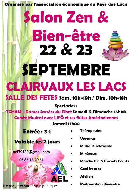 SALON ZEN  BIENTRE  ClairvauxlesLacs  Salle des Ftes Foires  Marchs  Salons  Jura