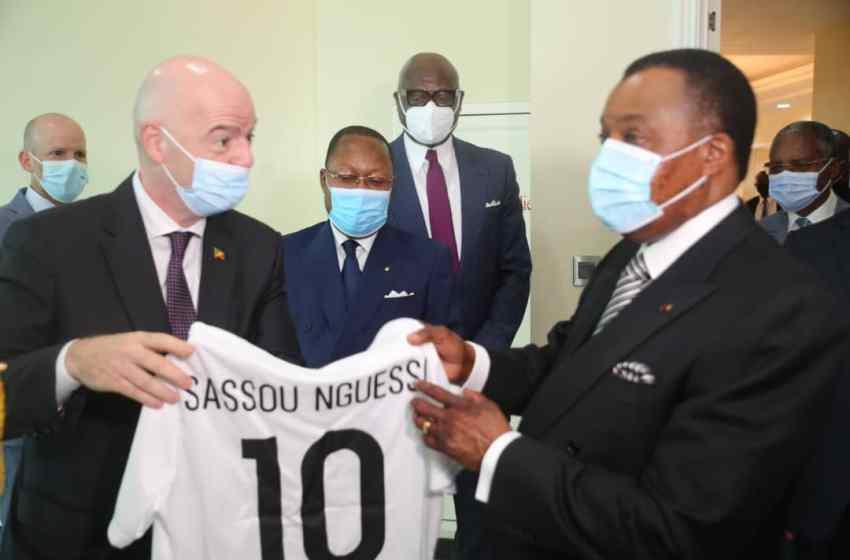 Football : Gianni Infantino reçu par Denis Sassou N'Guesso