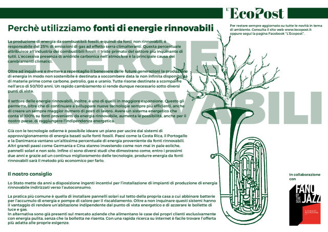 Abstrac L'EcoPost Energie Rinnovabili