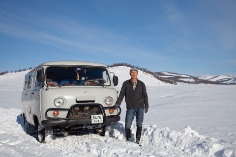 Byamba and his Uaz