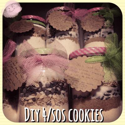 un tutoriel pour offrir un cadeau gourmand: le kit sos cookies