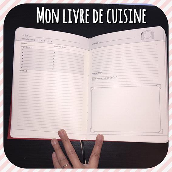 Mon livre de cuisine: My Family Cook, exemple de page