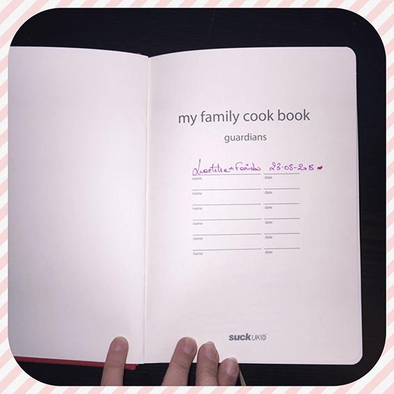 Mon livre de cuisine: My Family Cook, voila la page d'accueil