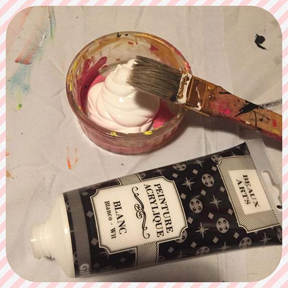 matériel pour le DIY art abstrait