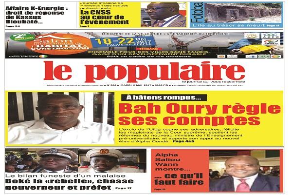 Le Populaire n°560 du mardi 2 mai 2017 Edition internationale