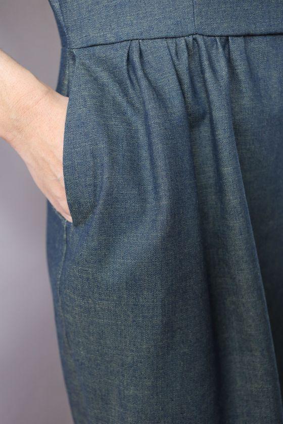 Sigma Dress En Denim De Papercut Patterns
