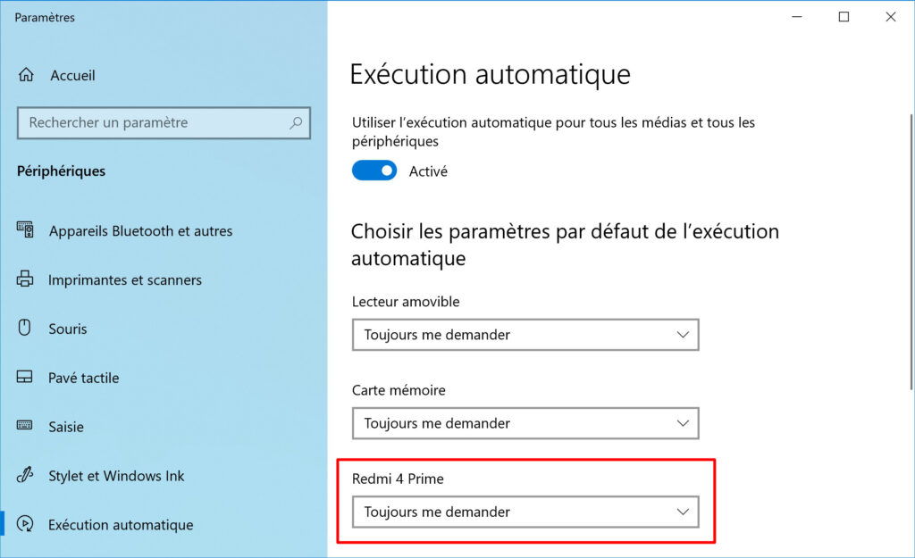 execution automatique telephone android parametres windows 10 5ee9f128bd326