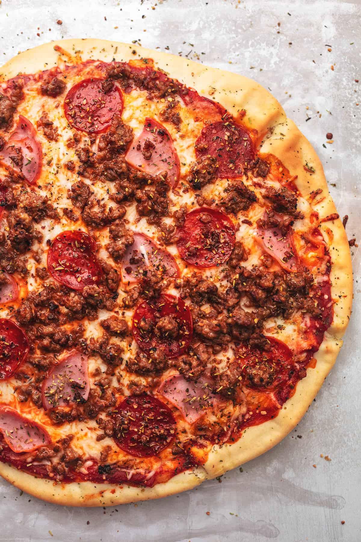 Meat Lover Pizza : lover, pizza, Lovers, Pizza, Creme, Crumb