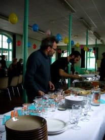 Jaime et Denis au buffet