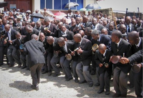Banna le Bahlankana at Thaba-Bosiu LECSA for 175th Anniversary in 2008