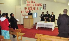 Chapel service at Morija Theological School