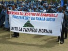 Thaba-Bosiu Presbytery's banner for Leeto la Thapelo