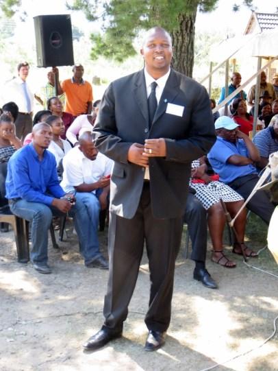 Mr. Teboho Mabeya, Youth Organizer of the Mophato oa Morija