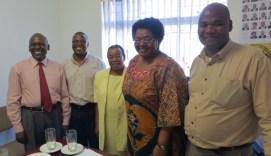Rev. Ramatlapeng, Rev. Tefo, Mrs. Mapetla, Rev. Gourdet and Rev. Masemene