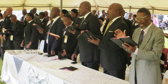 Worship leaders at Matelile Presbytery service