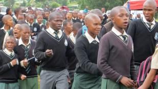Mathula High School students attending the Presbytery worship service