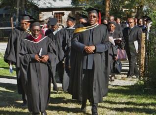 Graduation Procession led by Rev. Kometsi and Rev. Posholi