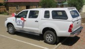 New Toyota 4x4 for Mohlanapeng Health Centre