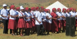 Tebellong Hospital staff choir