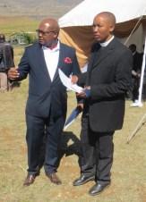 Mr. Mpholo and Rev. Kutumela