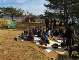 One of the outdoor classes at Qiloane Primary School