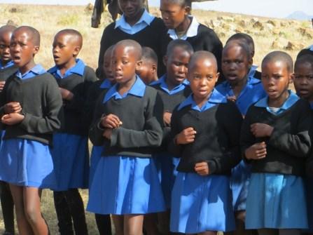 Qiloane Primary School choir members
