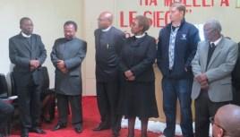 MTS Faculty Members Rev. Kometsi, Rev. Pule, Rev. Sekulisa, Rev. Fotho, Mr. Cooper and Rev. Setlaba