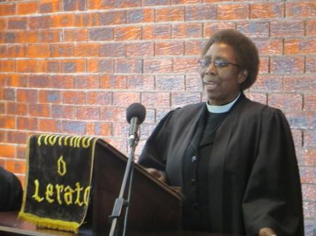 NUL-LECSA Chaplain Rev. Merriam Maitumeleng Fotho
