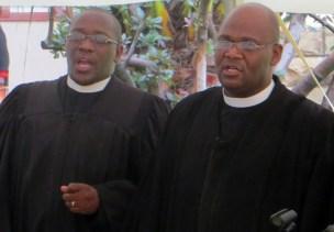 LECSA Moderator Rev. N. K. Posholi and LECSA Moderator Rev. T. S. Masemene