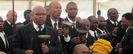 Members of Banna le Bahlankana (Men's Fellowship)