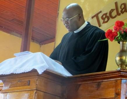 LECSA Moderator Rev. T. S. Masemene preaches at the closing worship service