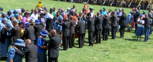 LECSA members receiving prayers of healing