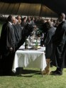 Preparations for the service of Holy Communion