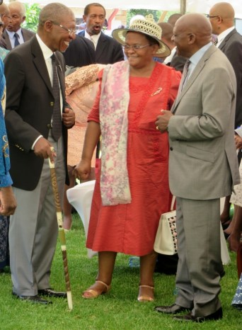 The Honourable Prime Minister Pakalitha Mosisili, his wife 'M'e Mathato and the Principal Chief of Mokhotlong Mathealira Letsie