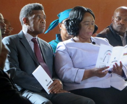 Members of Parliament Mr. Monyane Moleleki and Ms. Keketso Rantšo