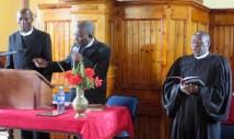 Service leaders Rev. Leeto, Rev. Mojaki and Rev. Posholi
