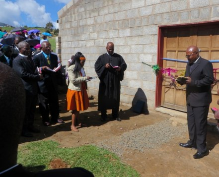 Dedication of the new church building