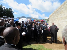 Opening of the new church building at Khotla LECSA