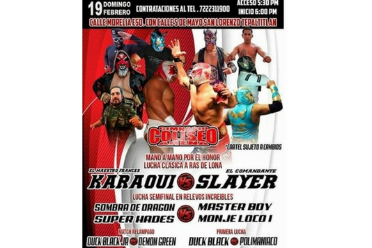 Gimnasio Coliseo presenta este domingo a Karaqui vs Slayer