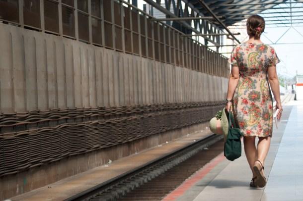 Emma Rodríguez. Estación de Príncipe Pío - Por Nacho Goberna @ 2013