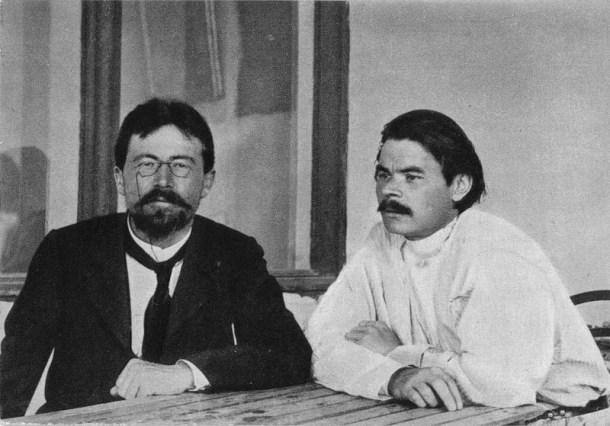 Antón Chéjov y Máximo Gorki en Yalta, 1900.