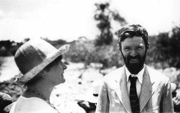 D.H. Lawrence y Frieda, Chapala, Mexico, 1923. D.H. Lawrence Collection