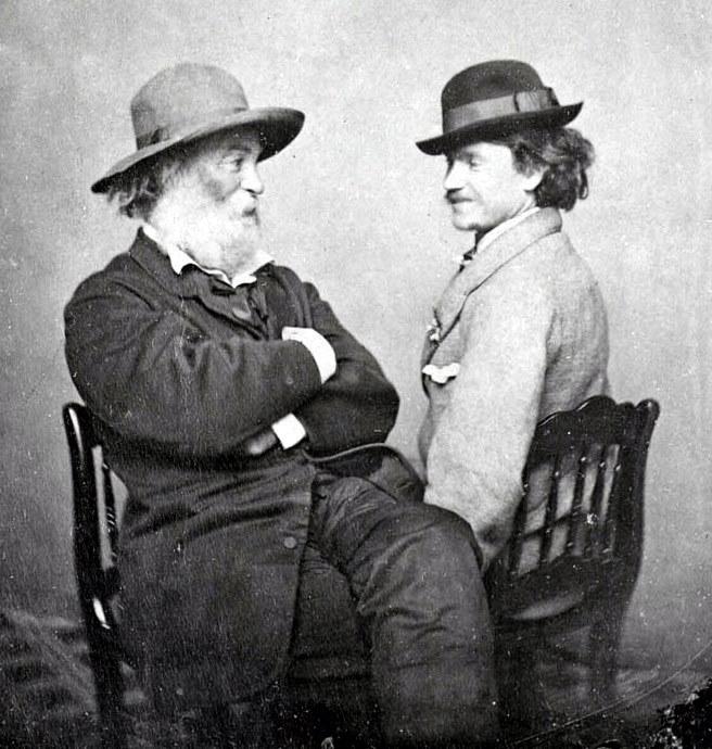 Walt Whitman y Peter Doyle, circa 1869