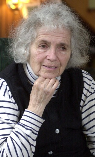 **FILE**Poet Grace Paley is shown in her home in Thetford, Vt., April 9, 2003. Poet and short story writer Grace Paley, a literary eminence and old-fashioned rebel who described herself as a