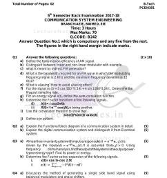 previous year exam questions of communication system engineering of bput cse by verified writer [ 1000 x 1295 Pixel ]